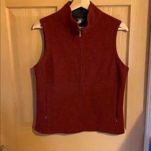 Ibex Marino Wool Burnt Orange Vest for sale